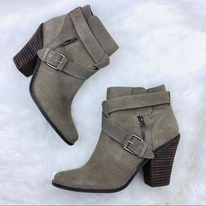 ⬇️$54 Dolce Vita   Gray Suede Buckle Booties 10